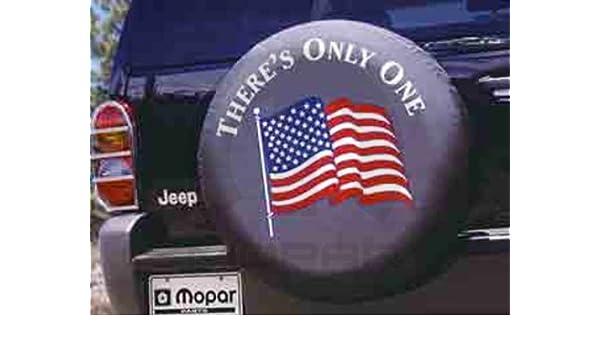 Jeep Mopar americano bandera Logo cubierta de la rueda de repuesto - 82207714 ca: Amazon.es: Coche y moto