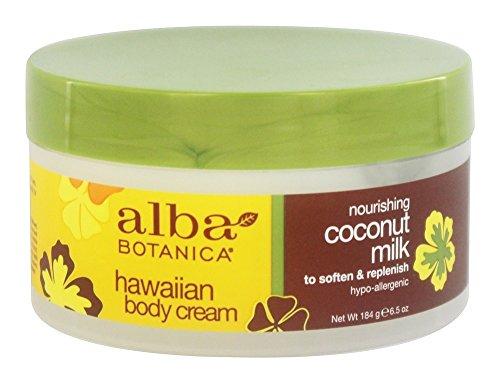 Alba Botanica Coconut Milk Body Cream 6.5 oz (Pack of 2)