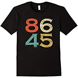 Mens Classic Vintage Style 86 45 Anti Trump T-Shirt 2XL Black