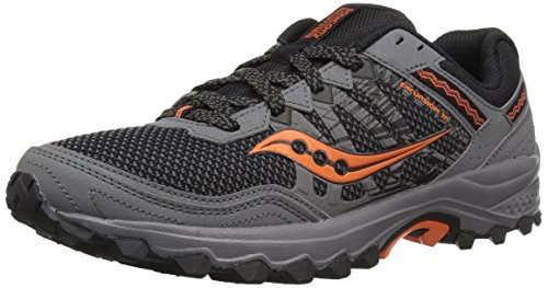 Saucony Men's Grid Excursion TR12 Running Shoe, Grey/Orange, 10.5 M US