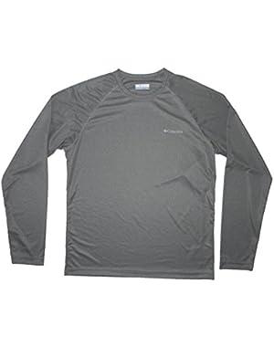 Bull Hill Men's Long Sleeve Shirt Medium Gray