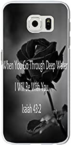 S6 Edge Case Bible Verses,Topgraph Samsung Galaxy S6 Edge Christian Quotes Hard Slim Case Cover Protector When You Go Through Deep Waters, I Will Be With You. Isaiah 43:2 sale on ZENG Case
