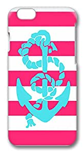ICORER Beautiful iPhone 6 Case, Pink And Teal Anchor Rugged Plastic Hard Case for Apple iPhone 6 with 4.7inch Screen