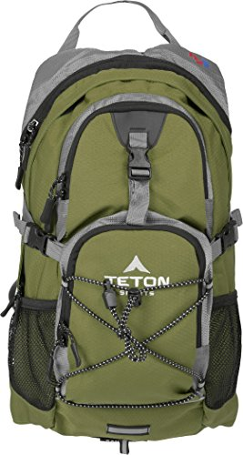 Teton Sports Oasis 1100 2 Liter Hydration Backpack; Day Pack Perfect for Hiking, Running, Cycling, Biking, Climbing, Hunting, and Outdoor Activities; 2 L Water Bladder Included; Sewn-in Rain Cover