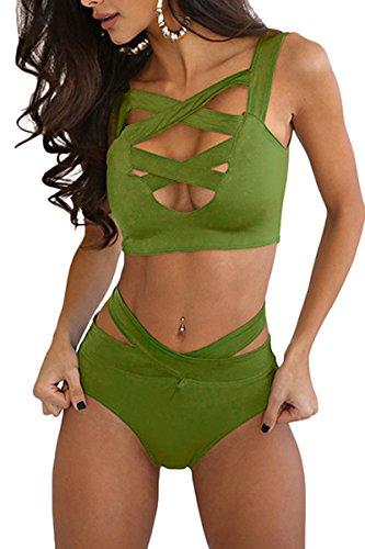 Prograce Womens Bandage Bikini Swimsuit