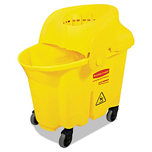(Wavebrake Institutional Bucket/Strainer Combo, 8.75gal, Yellow, New)