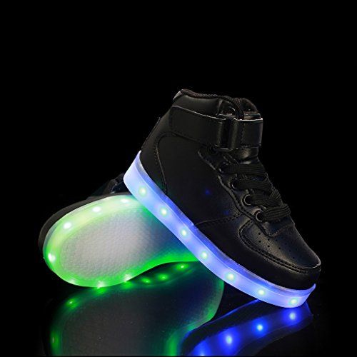 7 Led up Light Black Shoes Tops Up Colors Half Shoes DoGeek Choose Adult Unisex For High Size q8wgaYx