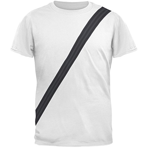 Old Glory Seatbelt Driver Side Costume All Over Adult T-Shirt - ()