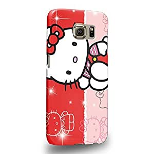 Case88 Premium Designs Hello Kitty Collection 0627 Protective Snap-on Hard Back Case Cover for Samsung Galaxy S6