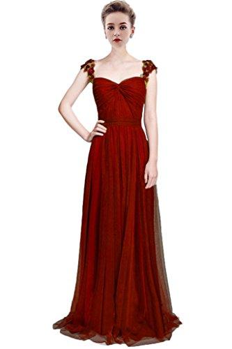 Vestido 46 Granate Para Rojo Mujer Trapecio Vimans gnw8dFqq