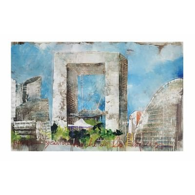 Sterling Industries 146-009 Exclusive Alberto De Serafino Print on Stretched Canvas with Hand Painted Embellishments (Serafino Print)