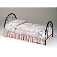 Twin Size Metal Bed Headboard & Footboard Black Finish