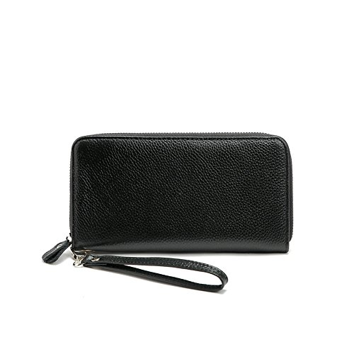Lovely Long Wrist Women's Long Orange Purse Color Zipper Classic Strap Leather Simple function Casual With Wallet Clutch Black Multi rabbit rISqxwfr