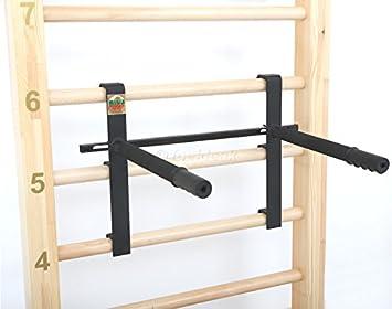 Klettergerüst Erwachsene : Suples u2013 erwachsene gladiator wall dip bar schwarz one size: amazon