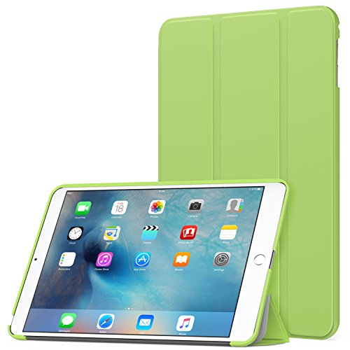 MoKo Case Fit iPad Mini 4 - Slim Lightweight Smart Shell Stand Cover Case with Auto Wake/Sleep Fit Apple iPad Mini 4 (2015 Edition) 7.9 inch iOS Tablet, - Green Cover Ipad Smart Apple Mini