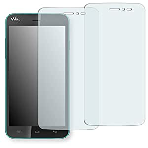 "2 x protectores pantalla Golebo para Wiko Lenny. Lámina protectora adhesiva invisible ""Crystal Clear"". Fabricado en Alemania."