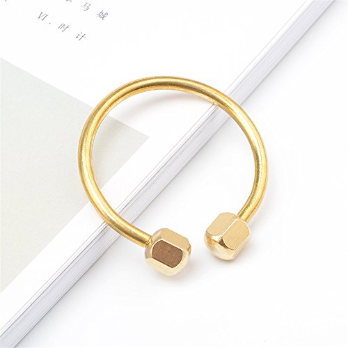 KUNSON Compact Practical Anti Loss Design Brass Screw Lock Key Chain Ring, Solid EDC Keychain Key Holder (Circular Shape)