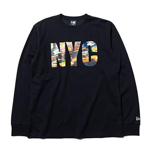 (ニューエラ) NEW ERA Tシャツ 長袖 TEE CITY LANDSCAPE NYC ブラック XL