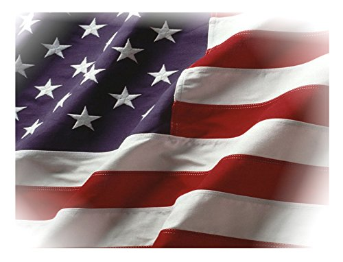 4'x6' American Cotton Flag Grown and Sewn in the USA Mercerized U.S. Processed 2-ply Cotton Dense Embroidered Stars Sewn Stripes (4x6 Cotton Flag) Cotton Embroidered American Flag
