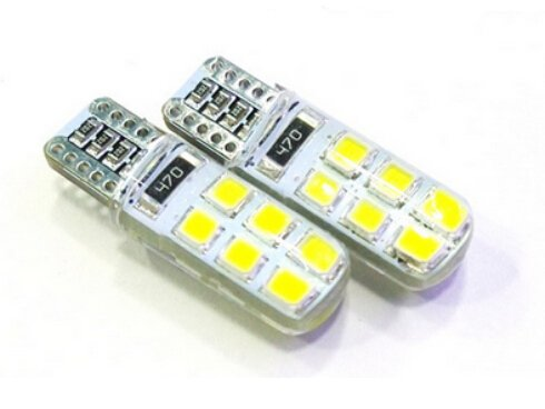 T10 AC/DC 12V 2W LED Bulb Lights Lamps White - 3