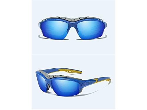 de Bleu Kangqi Sports Sports Lunettes équitation Lunettes de Vent Polarisés Hommes Soleil de pour Femmes Coupe pour Plein air Soleil toi BwOpqgB