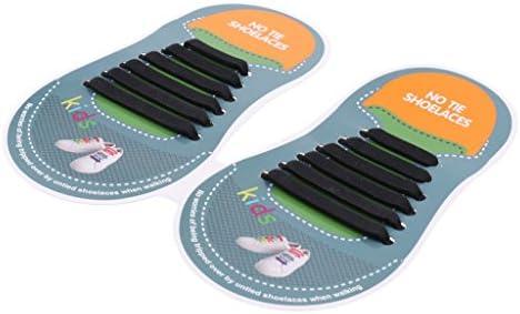 子供 靴ひも 結ばない シリコーン製 靴紐 防水 伸縮 シューアクセサリー 全11色