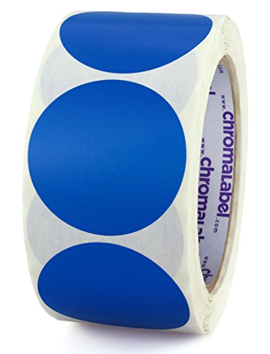 - ChromaLabel 2 inch Color-Code Dot Labels | 500/Roll (Dark Blue)