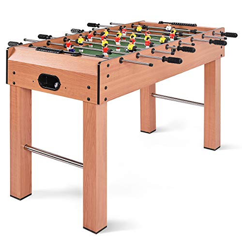 Giantex Soccer Foosball Table 48″ Tabletop Set, Competition Sized Heavy Duty Pub Arcade Game Room Indoor Leisure Football Sports Wooden Frame Free Standing, Outdoor Kick Foosball Tables with Legs