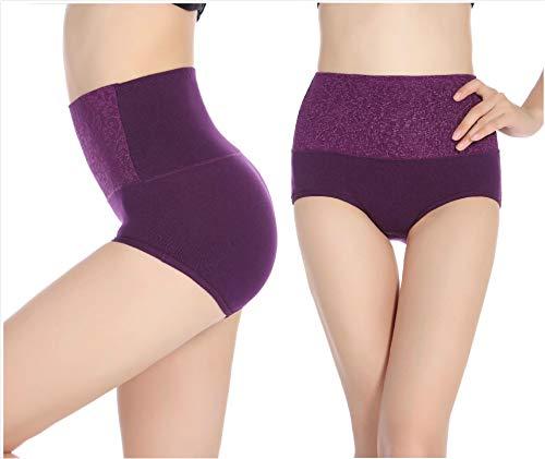 High Waist Tummy Control Panties for Women, Cotton Underwear No Muffin Top Shapewear Brief Panties
