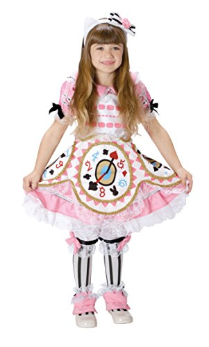 Alice in Wonderland Costume - Alice Costume with Clock Design on Pink Dress - Girl's S Size (Once Upon A Time In Wonderland Alice Dress)