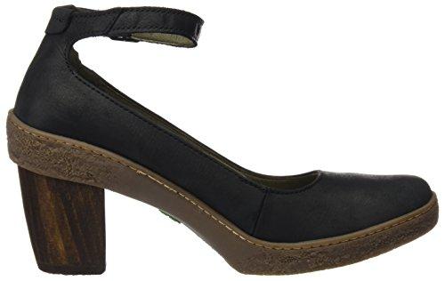 Nf76 Mujer Lichen con Pleasant Correa Black de Tobillo para Naturalista Negro El Zapatos nOx1tw