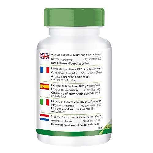 Extracto de brócoli DIM y el sulforafano - 1 mes - VEGANO - ALTA DOSIS - 90 tabletas: Amazon.es: Salud y cuidado personal