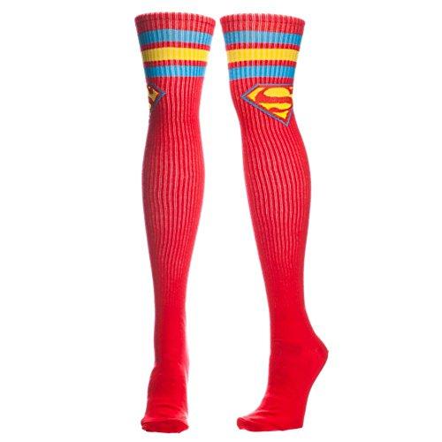 Supergirl Knee High Socks (Superman Over the Knee Athletic Stripe)