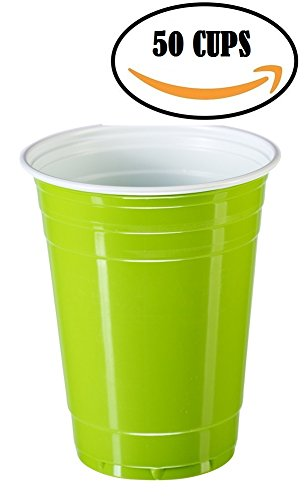 Goodtimes Big Party Pack 50 Count Plastic Cups, 16-Ounce (Lime Cup)
