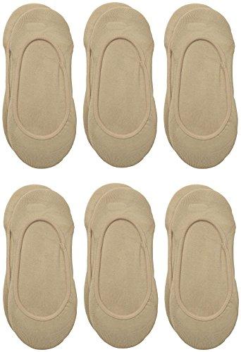 Via Spiga Women's 3 Pack Matte Microfiber Liner No-Show Sock, Nude, No ()