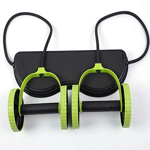 Zinnor Double AB Wheel Roller Fitness Abdominal Machine Exercise Gym Equipment Core Workout Multi-Function Fitness Equipment Waist Slimming Trainer at Home Gym