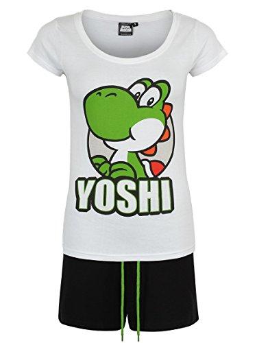 Super Mario Yoshi Pyjama blanc/noir M