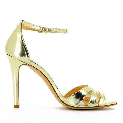 Evita Shoes Clara - Sandalias de vestir de Piel para mujer dorado