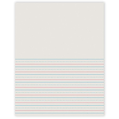 (Pacon PAC2695BN Newsprint Handwriting Paper, Picture Story, Grade 2, White, 1/2