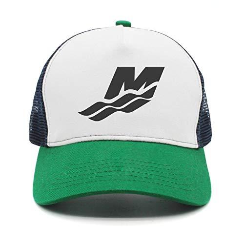 kseerbaball Pattern Adjustable Mercury Marine Water Logo Trucker Hat Green