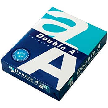 Double A Copy Paper, 8.5 x 11 Inches USA Letter Size, Thicker 22 lb. Density, 94 Bright White, 500 Sheets (22# Single Ream)