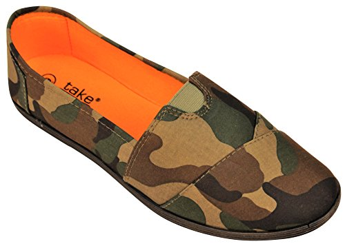 Take A Walk Canvas Slip-On For Women Olive Night Camouflage JfXLR9
