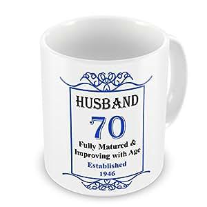 Marido 70th cumpleaños establecido 1946años–taza azul