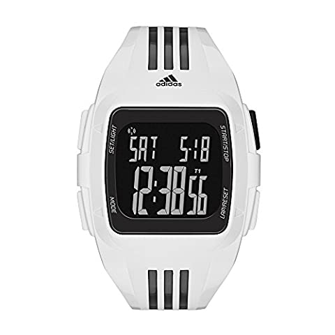 adidas Unisex ADP6091 Duramo XL Digital Watch with White Case and Strap (Sport Watches Womens White)