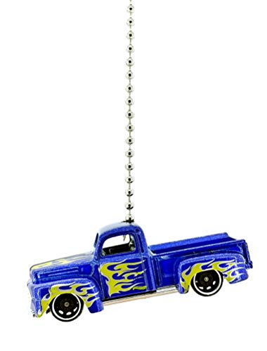 (Ford Truck Diecast Ceiling Fan Pull Chain Ornaments 1/64 (1949 Ford F1 Blue Yellow))