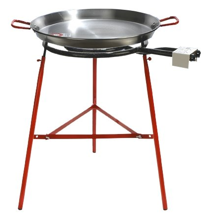 60 cm Polished Paella + Stove Mod. 500 + Reinforced Support Mirador Paella KIT