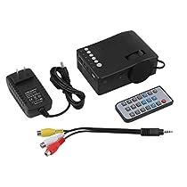 Hand Held Mini Portable Home Entertainment Remote Control Projector Resolution 180320 Black US Plug UC18