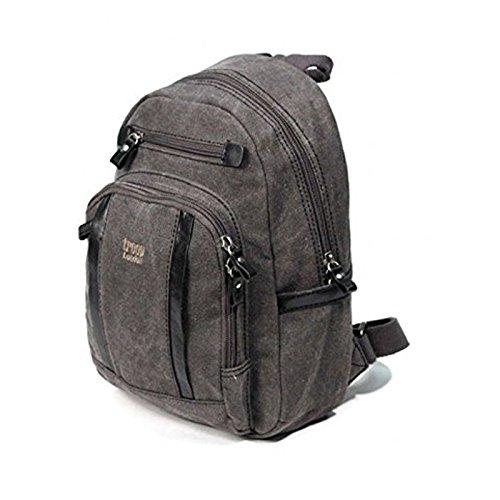 new-troop-london-trp-0255-mini-size-backpack-unisex-premium-canvas-bag-black