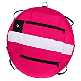 SM SunniMix Heavy Duty Scuba Diving Freediving Diver Snorkeling Spearfishing Surface Marker Buoy/Safety Buoyancy Signal Float Gear Equipment - Pink