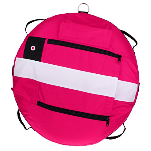 SM SunniMix Heavy Duty Scuba Diving Freediving Diver Snorkeling Spearfishing Surface Marker Buoy/Safety Buoyancy Signal Float Gear Equipment - Pink -